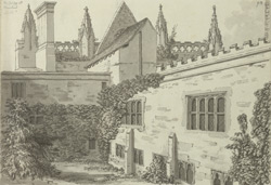 Newstead Abbey, cloisters f.93